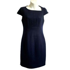 T Tahari Blue Navy Cali Sheath Dress